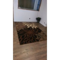 Floral Multi with Jute Backing Power loomed Rug