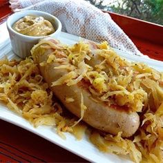 Beer Glazed Brats and Sauerkraut - Allrecipes.com