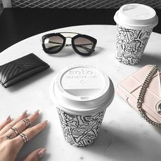But First C O F F E E ☕️ #WCOgirlgang @gracejayde with her Double-Bar Ring x Triple-Bar Ring Going at 50% OFF for a limited time only, shop quick before this #WCOholiday special ends >> wanderlustandco.com.