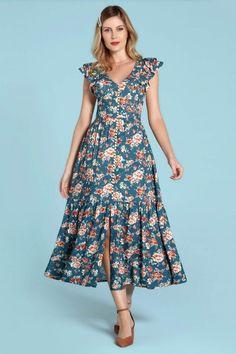 Modest Dresses Casual, Trendy Dresses, Girls Dresses, Summer Dresses, Frock Fashion, Fashion Dresses, Lovely Dresses, Vintage Dresses, Mode Turban