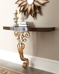 Maitland-Smith Fedora Console from Horchow. Shop more products from Horchow on Wanelo. Deco Furniture, Accent Furniture, Furniture Design, Credenza Decor, Deco Baroque, Table Cafe, Maitland Smith, Home And Deco, Decorative Accessories