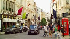 Bond Street shopping in London