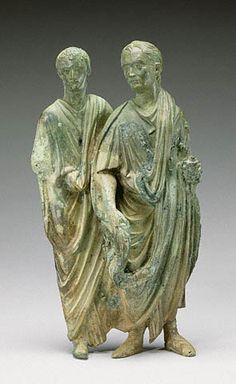 Appliqué with Two Men             Roman, A.D. 50 - 75   Bronze