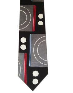 Lord & Taylor Metropolitan All Italian Silk Modern Abstract Art Necktie Neck Tie #LordTaylor #NeckTie