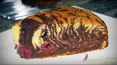 Prăjitură zebră cu vişine proaspete sau congelate