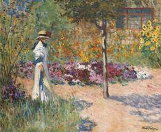 Louis Abel-Truchet, Élegante au jardin