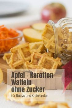 Apfel-Karotten-Waffeln – ohne Zucker Best Picture For christmas food For Your Taste You are looking for something, and it is going to tell you exactly … Apple Recipes, Baby Food Recipes, Healthy Recipes, Baby Snacks, Recipe For Mom, Homemade Baby, Food Blogs, Baby Feeding, Finger Foods