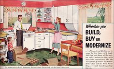 1953 Youngstown Kitchen    This Youngstown kitchen ad was published in American Home.