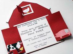 FARM / BARNYARD PARTY invitations