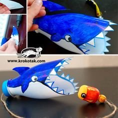 25 Plastic Bottle Crafts for Kids – Play Ideas Kids Crafts, Zoo Crafts, Ocean Crafts, Preschool Crafts, Crafts From Recycled Materials, Recycled Crafts Kids, Recycled Bottle Crafts, Sea Animal Crafts, Animal Crafts For Kids