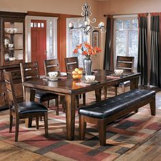 Signature Design by Ashley Larchmont Dark Brown Dining Room Table.....love this table but with different chairs