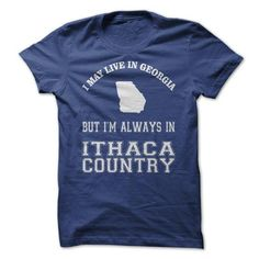 Georgia 4 Ithaca Country! - #shirt with quotes #tshirt blanket. SAVE  => https://www.sunfrog.com/Sports/Georgia-4-Ithaca-Country.html?id=60505