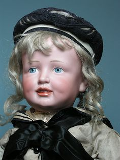 German bisque doll ~ look at that face!