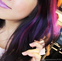violet highlights in brown hair | Have Gone To The World Of Crazy Hair ...