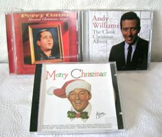 3 Crooner Christmas CD's  Perry Como, Andy Williams and Bing  #Christmas