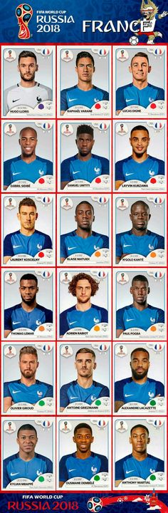 France is the winner of FIFA World Cup 2018 in Russia and world champion for next 4 years till Dubai Uefa Football, Football 2018, Soccer Fifa, National Football Teams, Sport Football, Fifa Teams, World Cup 2018 Teams, World Cup 2018 Groups, France Players