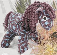 "Häkelmuster Fundgrube: Pferd ""African Flower"""