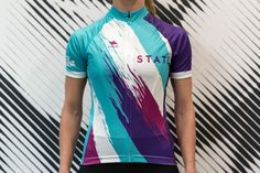 Visit State Bicycle Co. to browse our Rider Signature Series biking & cycling jerseys. Each month, we unveil a one-of-a-kind jersey & bottle designed closely and inspired by a team rider. Womens Cycling Kit, Cycling Wear, Bike Wear, Cycling Outfit, Women's Cycling Jersey, Cycling Jerseys, Cycling Bikes, Bike Kit, Sublime Shirt