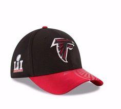 Men s New Era NFL Atlanta Falcons Superbowl LI Side Patch Sideline 39THIRTY  Hat 5da63cc0b4c1