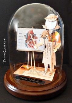 Female Cardiologist. Made from 20 Business Cards you send. PetrinaCasestudio