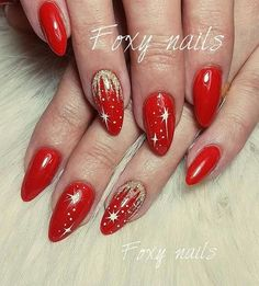 Designs for Christmas ideas about Christmas manicure, pretty nails and – Related posts: 20 Pretty Christmas Nail Art Ideas and Designs … Cute Christmas Nails, Christmas Nail Art Designs, Xmas Nails, Winter Nail Designs, Winter Nail Art, Holiday Nails, Winter Nails, Red Nails, Hair And Nails