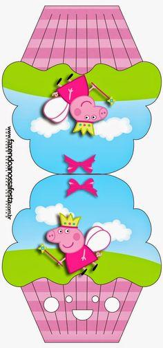Peppa Pig can be a Uk preschool lively telly Fiestas Peppa Pig, Cumple Peppa Pig, Cupcake Invitations, Free Printable Invitations, Printables, Peppa Pig Lunch Box, Pig Birthday, Birthday Cards, Pig Candy