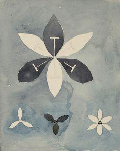 Hilma af Klint, Blommor (Flowers) 1916 on ArtStack #hilma-af-klint #art