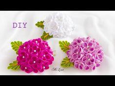 ❀ ♡ ❀ D.I.Y. Double Tone Organza Flower Bud | MyInDulzens ❀ ♡ ❀ - YouTube