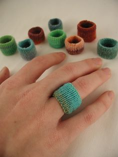 knitted rings by moonrover on Ravelry