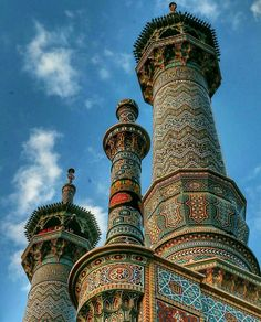 Islamic Architecture, Amazing Architecture, Art And Architecture, Islamic Images, Islamic Art, Beautiful Mosques, Beautiful Places, Islamic Paintings, Sufi