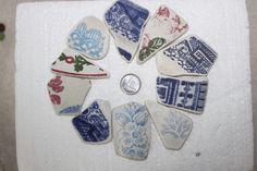 AWESOME BEACH GLASS Pottery Jewels Large by BEACHGLASSSWEPTASHOR, $16.99