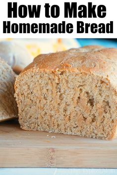 Lots of easy homemade bread recipes with yeast are here! From white to wheat and sweet breads too we have lots to choose from to make your meal perfect. Recipes With Yeast, Easy Bread Recipes, Snack Recipes, Cake Recipes, Cooking Recipes, Healthy Recipes, Snacks, Homemade White Bread, Homemade Breads