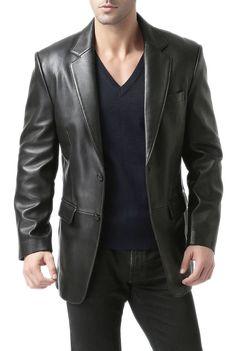 d4c467220ed Brand New Men s Genuine Lambskin Leather Blazer Jacket Soft TWO BUTTON Coat   EleganceLeathers  Blazer
