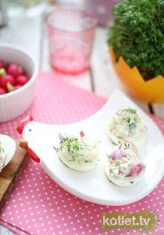 Jajka faszerowane rzodkiewkami