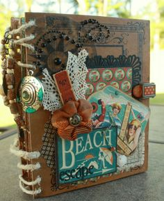 Vintage Beach Mini-Album - Scrapbook.com