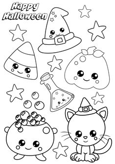 Pumpkin Coloring Pages, Fall Coloring Pages, Coloring Pages For Kids, Coloring Books, Kids Colouring, Coloring Stuff, Disney Halloween Coloring Pages, Disney Coloring Pages, Halloween Doodle