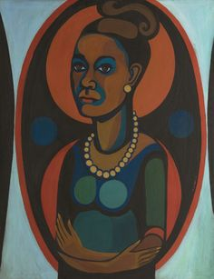 """As a black, female artist in the 1960s, Ringgold says there were """"a lot of people trying to get in my way and keep me from doing what I was doing."""" Above, a 1965 self portrait."""