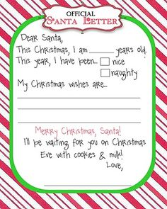 Free Santa Claus Letter | ... younger kids. Moomootutu offers the free Santa letter printable here