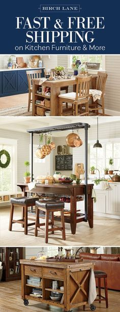 They say that the kitchen is the heart of the house, where loved ones gather and memories are made. Birch Lane has everything you need to make your kitchen the backdrop for those special moments. The best part? Everything over $49 ships free! Sign up to shop kitchen islands, bar stools, and more at Birchlane.com.