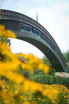 This 105' long Grand Valley arch, which crosses Campus Drive at the M-45 entrance, was built in summer of 2001 and is made of copper.