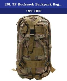 20L 3P Rucksack Backpack Bag for Travelling Climbing Camping Hiking Trekking Outdoor Sport (CP Camouflage). Features: 1. Made of premium quality oxford cloth with high durability 2. Comfortable mat, little and multi-pocket, economical and practical 3. You can put water bags, washing tools and other articles for daily use 4. Great for traveling, hiking, camping, school and so on 5. Waterproof and CP camouflage color with favorable concealment 6. Composed of several adjustable buckles…