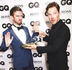dan stevens with benedict cumberbatch