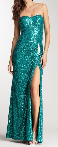 Mermaid sequined gown