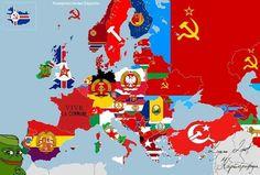 Alternate Worlds, Alternate History, World Of Warships Wallpaper, Revolution Quotes, Egyptian Tattoo Sleeve, Poland Map, Communist Propaganda, Fantasy Map, Mario And Luigi