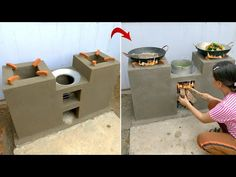 Amazing! Technology for building smoke free cement stoves level 100, DIYwoodstove, pelletstoves - YouTube Outdoor Projects, Diy Projects, Modern House Floor Plans, Pool Landscape Design, Family Wall Decor, Kitchen Cabinet Styles, Happy Kitchen, Cement Crafts, Home Fix