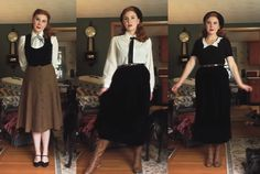 Rachel Masky - A Pinup Companion Vintage Inspired Fashion, 1940s Fashion, Vintage Fashion, Vintage Style Dresses, Vintage Outfits, Student Fashion, Vintage Wardrobe, Hijabs, Aesthetic Clothes