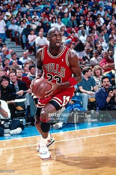 0c98cffa155 Michael Jordan #23 of the Chicago Bulls drives against the Sacramento Kings  during a game