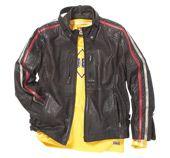 Biker Stripe Leather Jacket