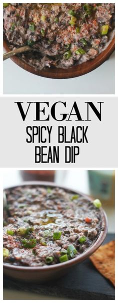 Black Bean Dip is perfect for parties for dipping, spread on toast, or used in a wrap! Super easy to make - only 5 minutes!