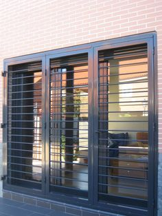 steel grill design for sliding window Window Grill Design Modern, House Window Design, Balcony Grill Design, Grill Door Design, Door Gate Design, Railing Design, Steel Grill Design, Window Security Bars, Burglar Bars